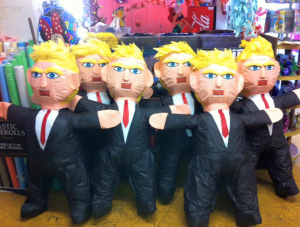 Piñatas of bully billionaire politicians are quite popular right now...